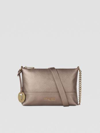 Sac crossbody Bella en similicuir lame