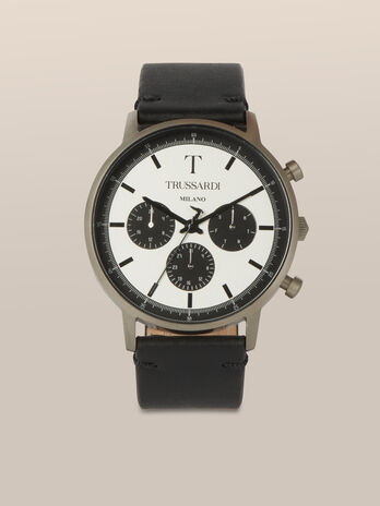 43 MM T-Gentleman watch with leather strap
