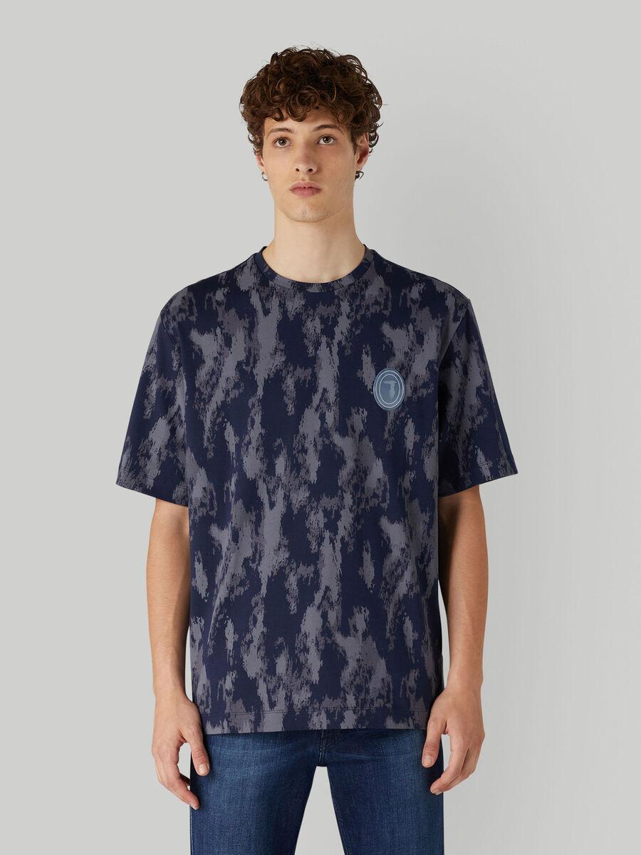 Oversized camouflage cotton T-shirt