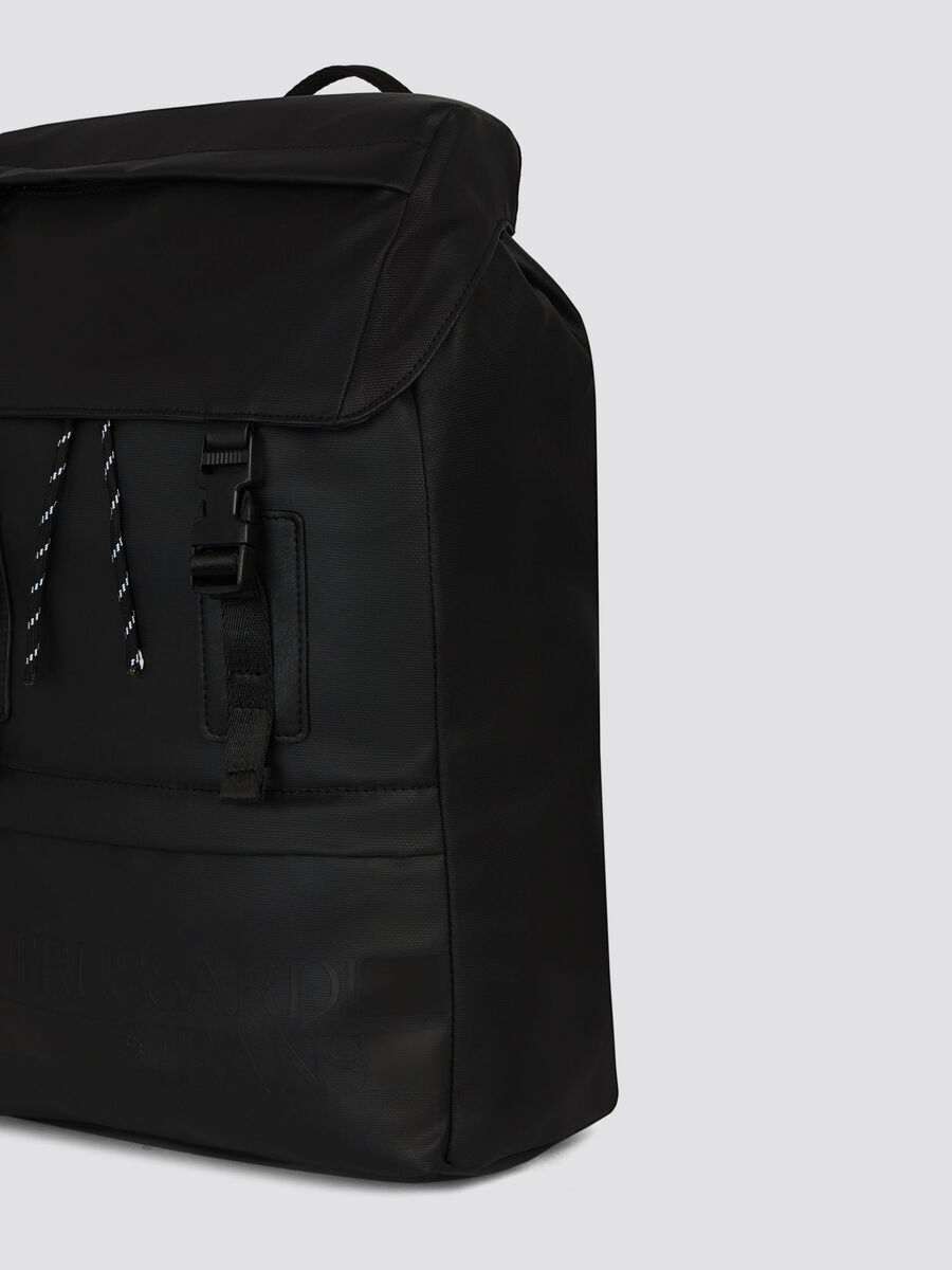 Medium Turati backpack in rubberised nylon and Cordura