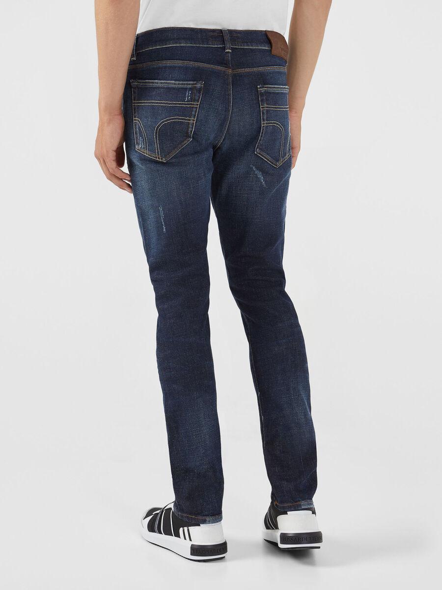 Jeans 370 extra slim in denim Calvin blu