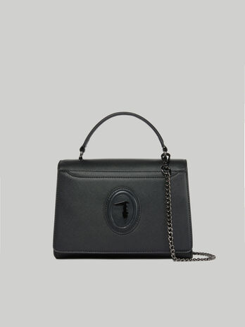 Medium Dahlia crossbody bag in faux saffiano leather
