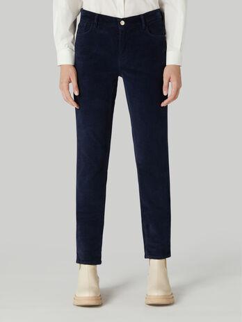 Pantalon 105 coupe skinny en velours stretch