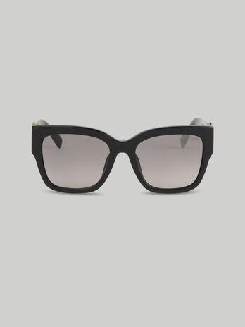 Sonnenbrille aus schwarzem Acetat