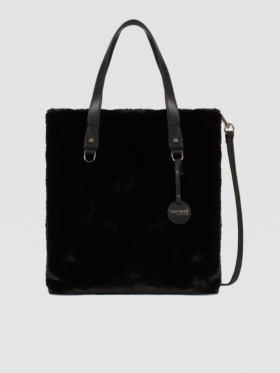 Small T-Wow tote bag in faux fur
