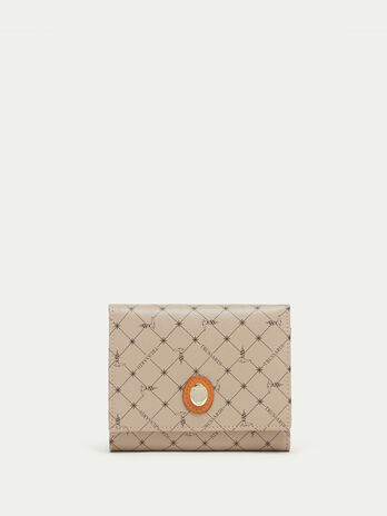 Mini crespo leather Monogram wallet