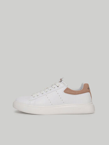 Colour-block faux leather Yrias sneakers