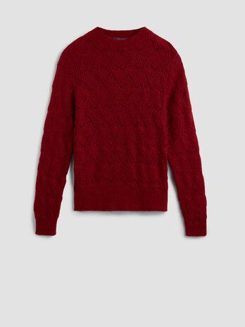 Crew neck mohair blend pullover