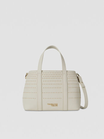 Small Anita tote bag in studded faux leather