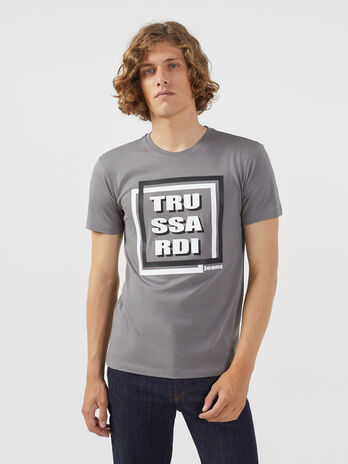 T-shirt regular fit in jersey con stampa grafica