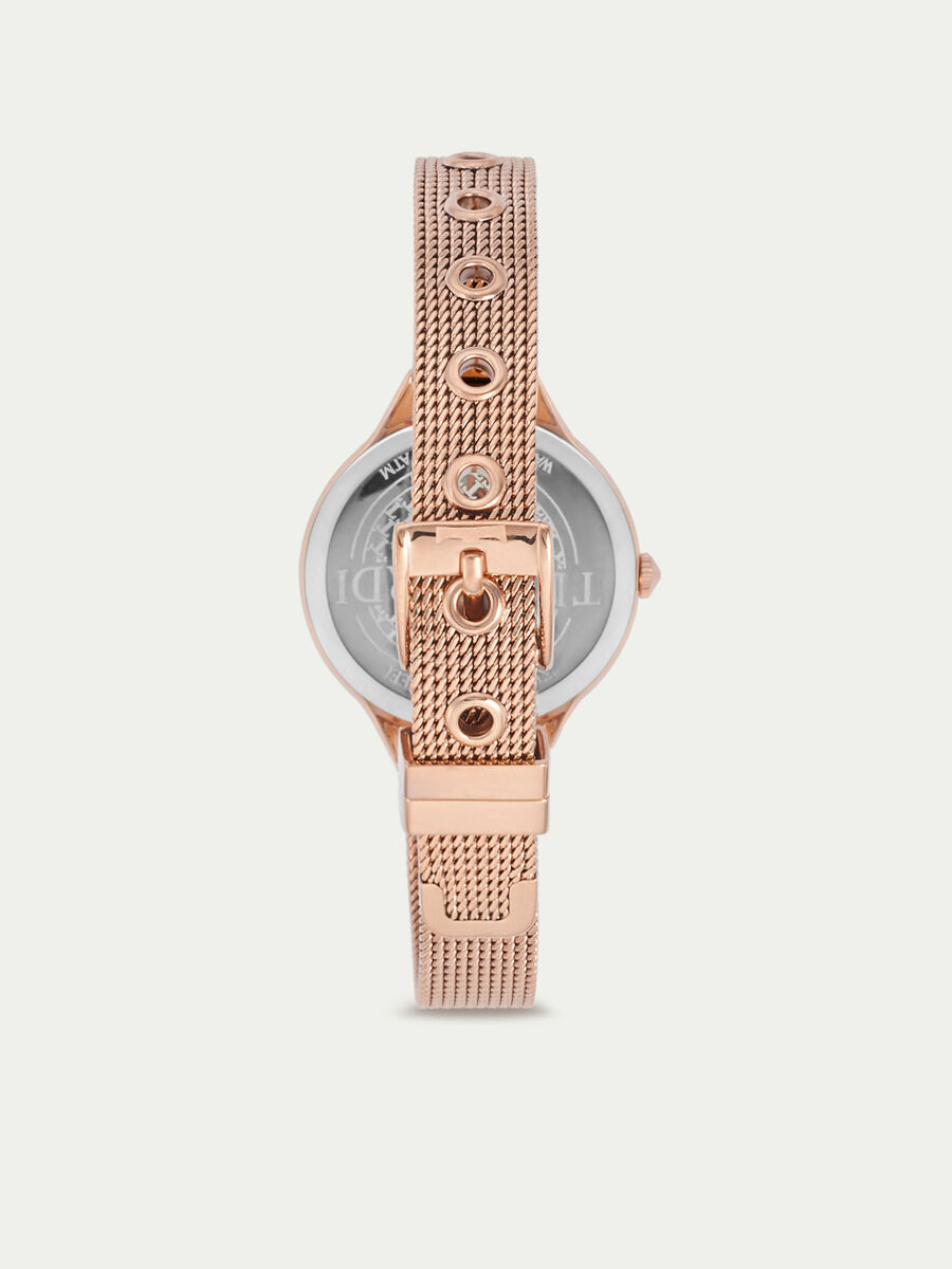 T-Queen watch with Milanese mesh strap