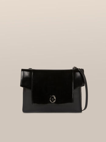 Clutch New Lovy medium in pelle abrasivata