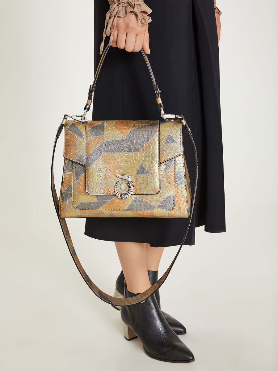 Lovy Bag in mosaic printed leather