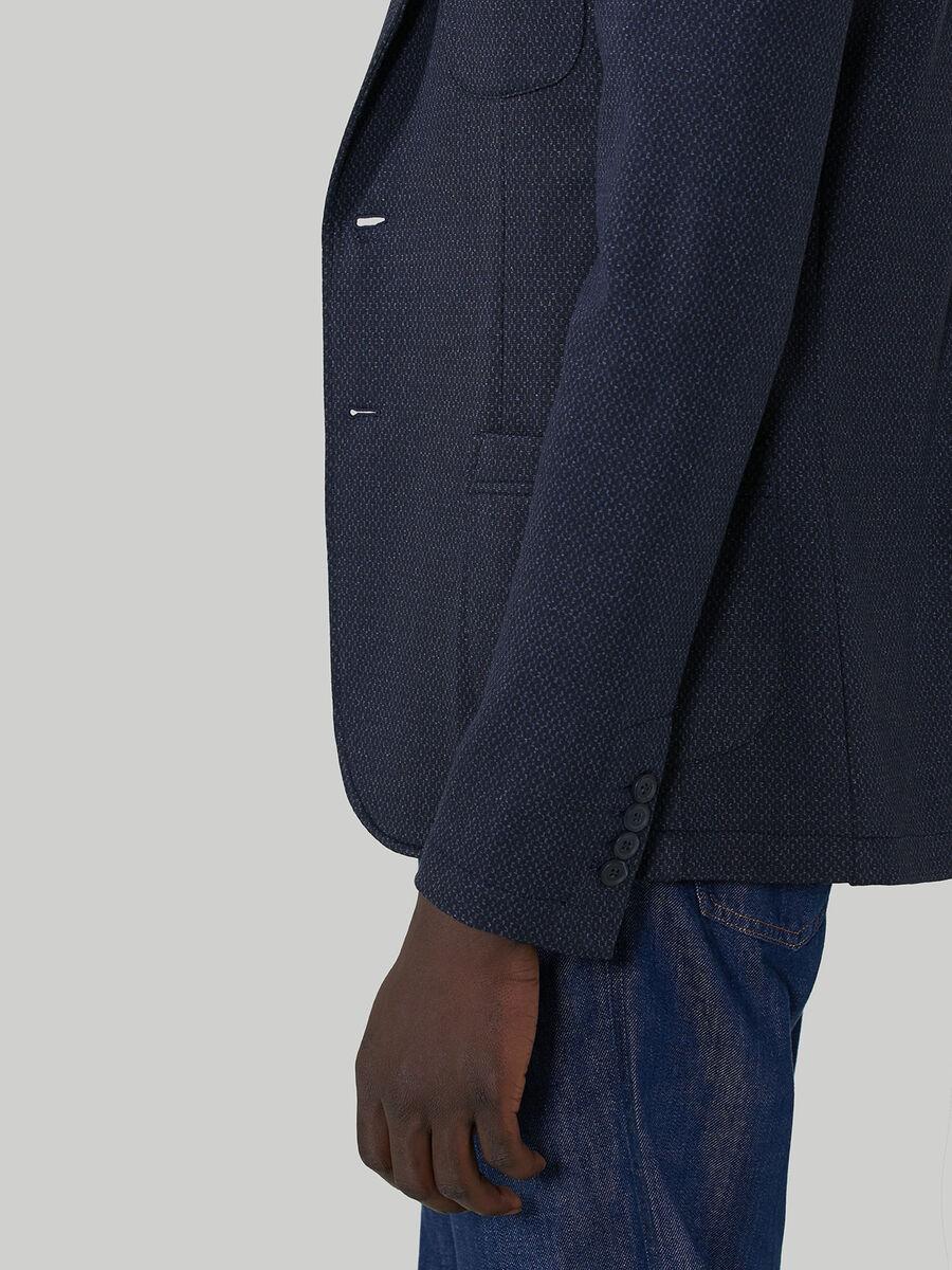 Slim-fit viscose jersey blazer
