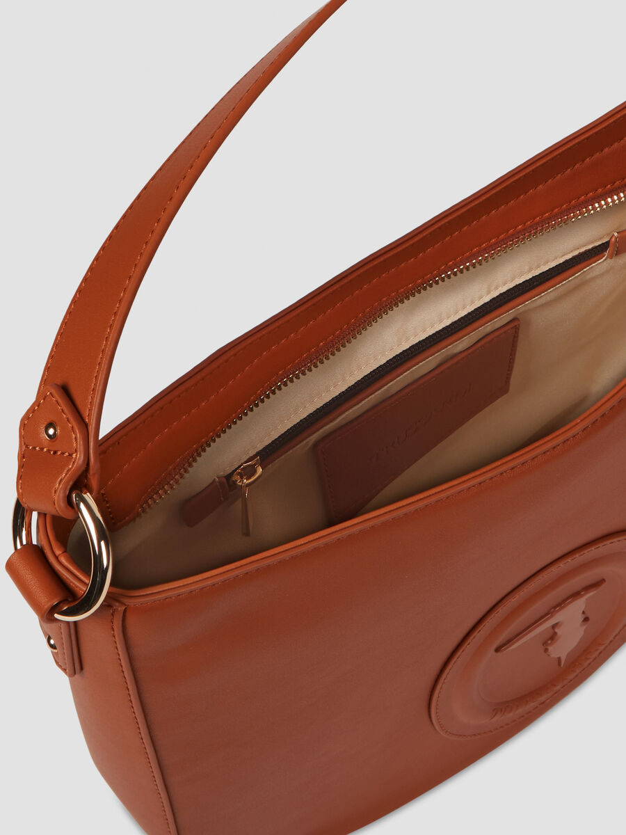 Medium smooth faux leather Lisbona hobo bag