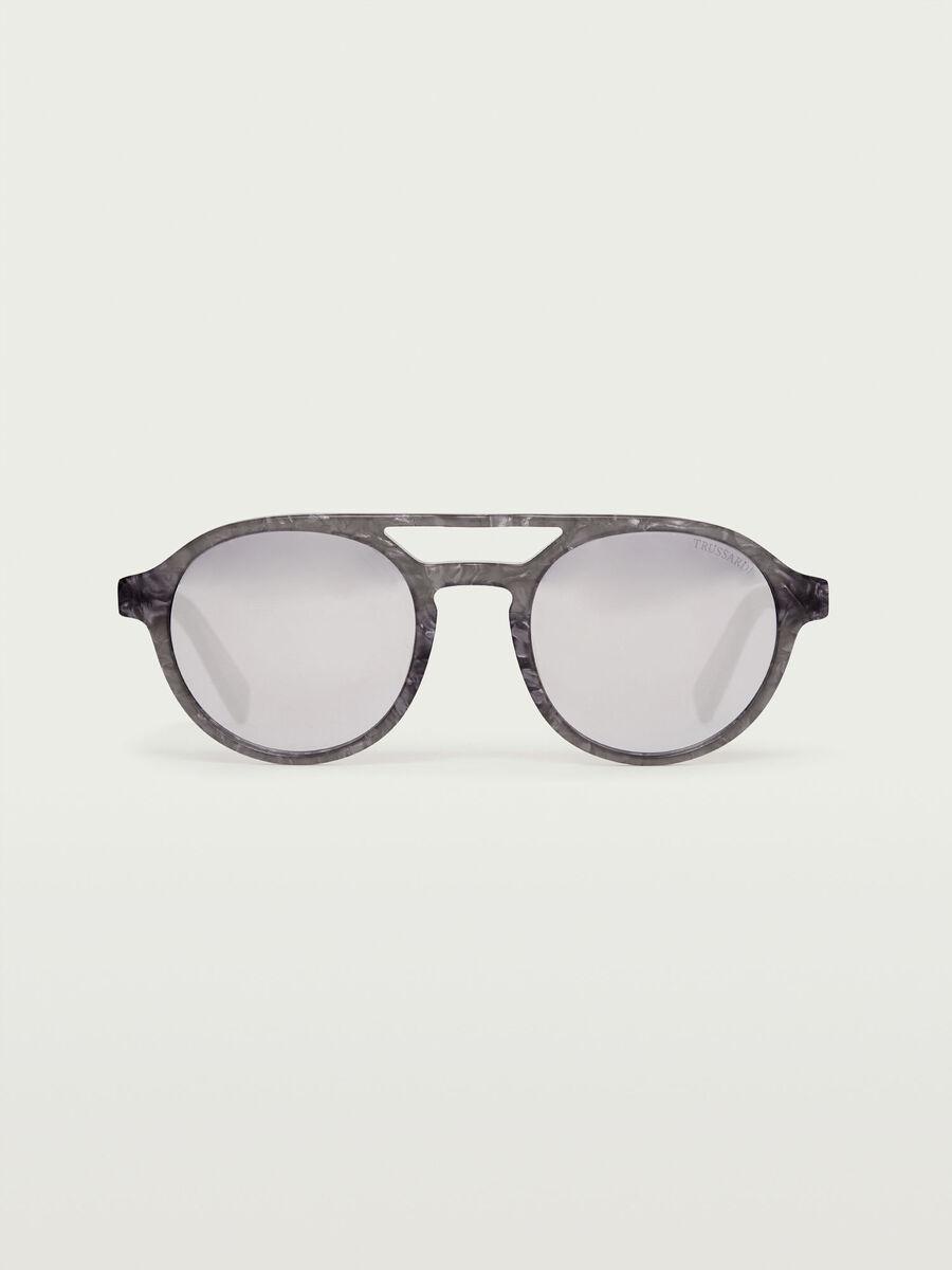Flieger Sonnenbrille mit Spiegelglaesern