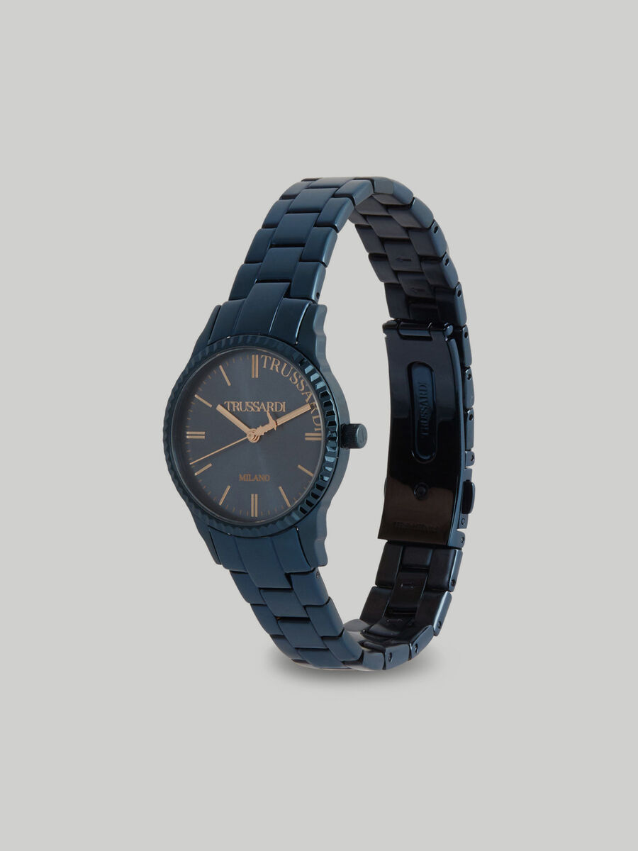 32 MM T-Bent watch with steel strap