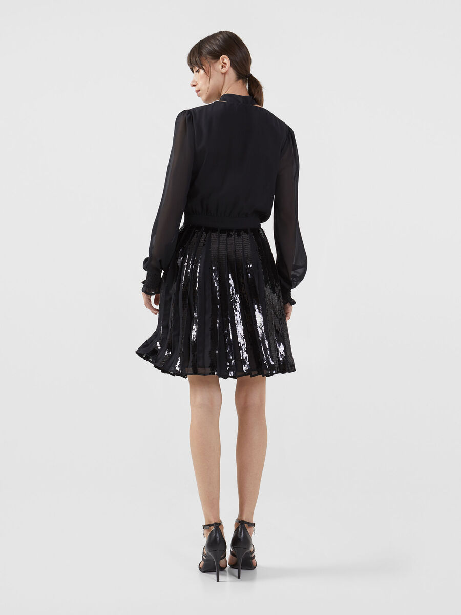 Georgette dress with sequin details