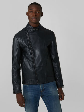 Motorcycle jacket in pelle