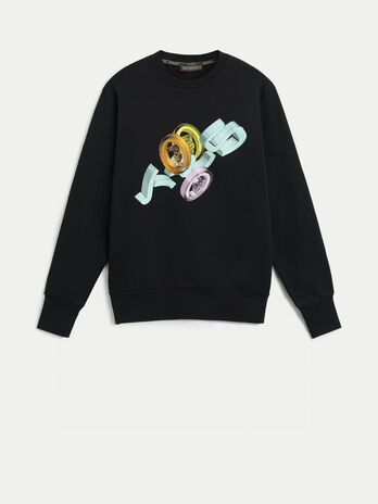 Cotton sweatshirt with graphic print