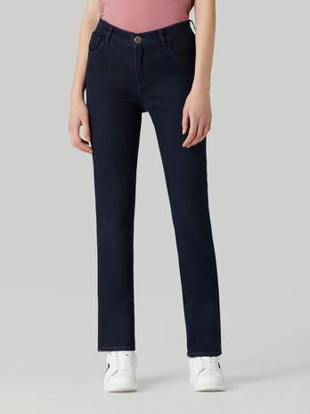 Jeans 130 classic in denim satin