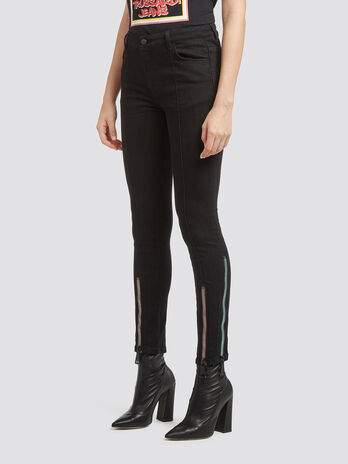 Super skinny jeans with zips