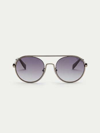 Gafas de sol aviador con lentes redondas