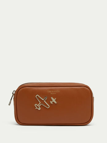 Tresor leather case with airplane details