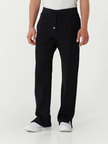 Fleece jogging bottoms with drawstring