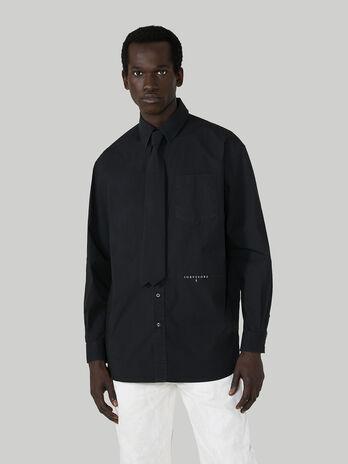 Hemd im Over-Fit aus Baumwolle mit Krawatte