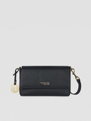 Bella crossbody bag in faux saffiano leather