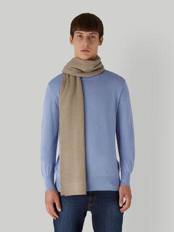 Bufanda de mezcla de lana con inscripcion jacquard