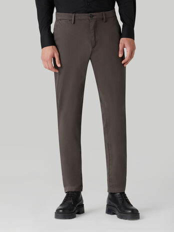 Stretch sateen Aviator-fit trousers