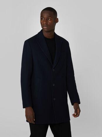 Single breasted woollen over coat