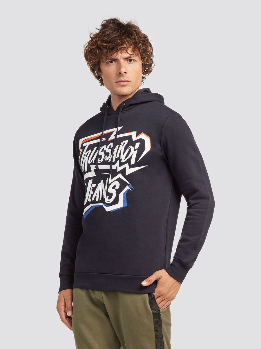 Hoody with street style lettering print