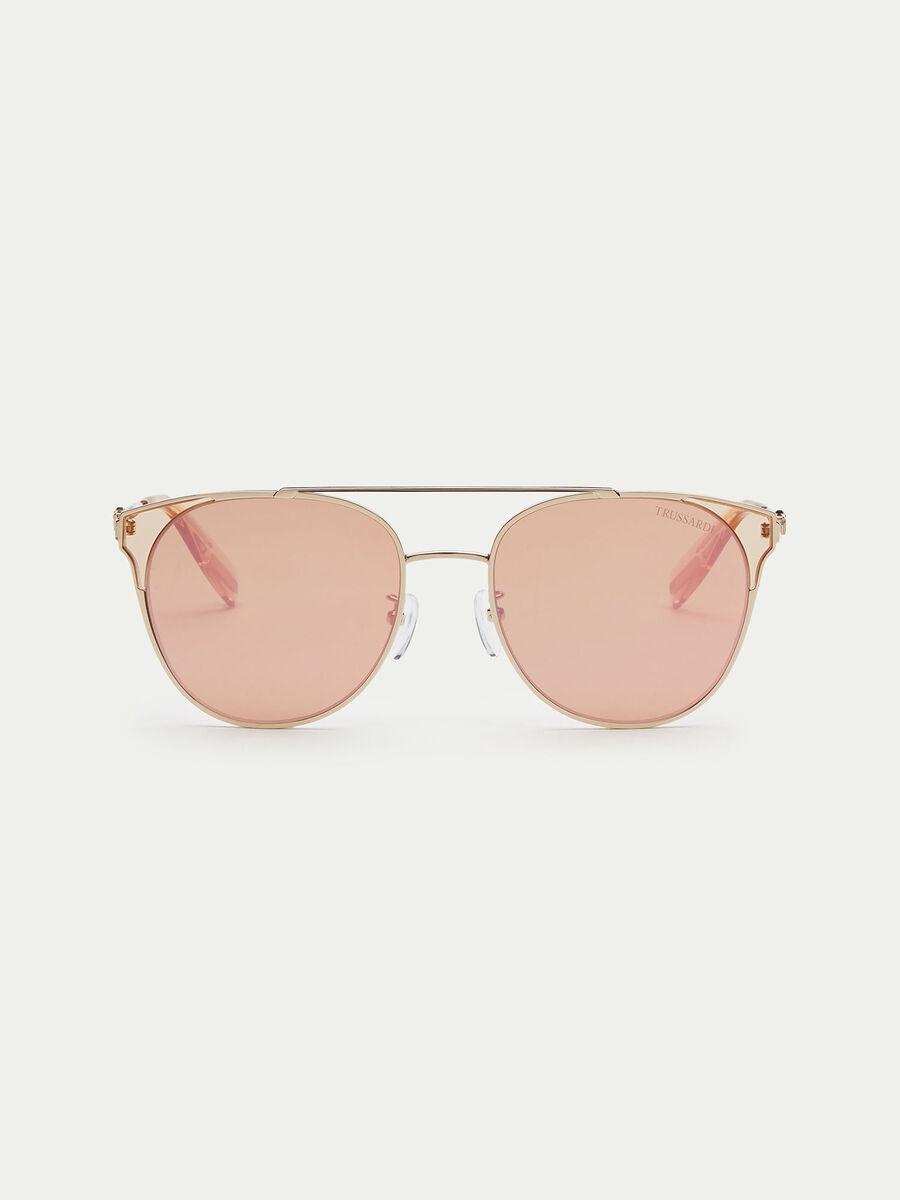 Flieger Sonnenbrille mit Glas Rahmenendstuecken