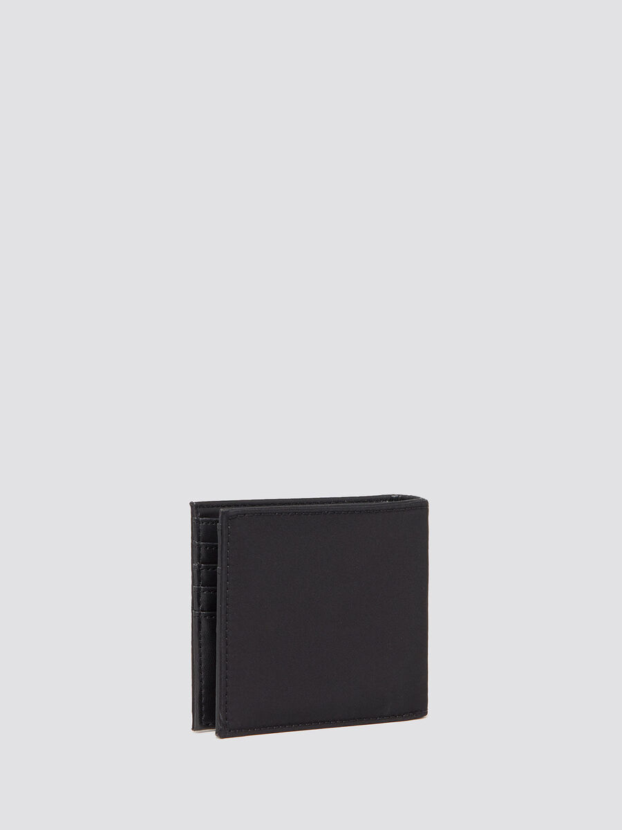 Ticinese wallet with logo patch