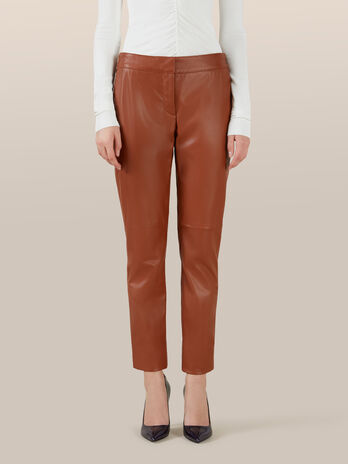 Pantaloni regular fit in pelle
