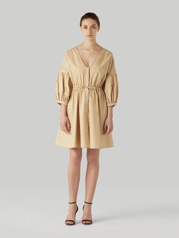 Vestido corto de popelina de algodon