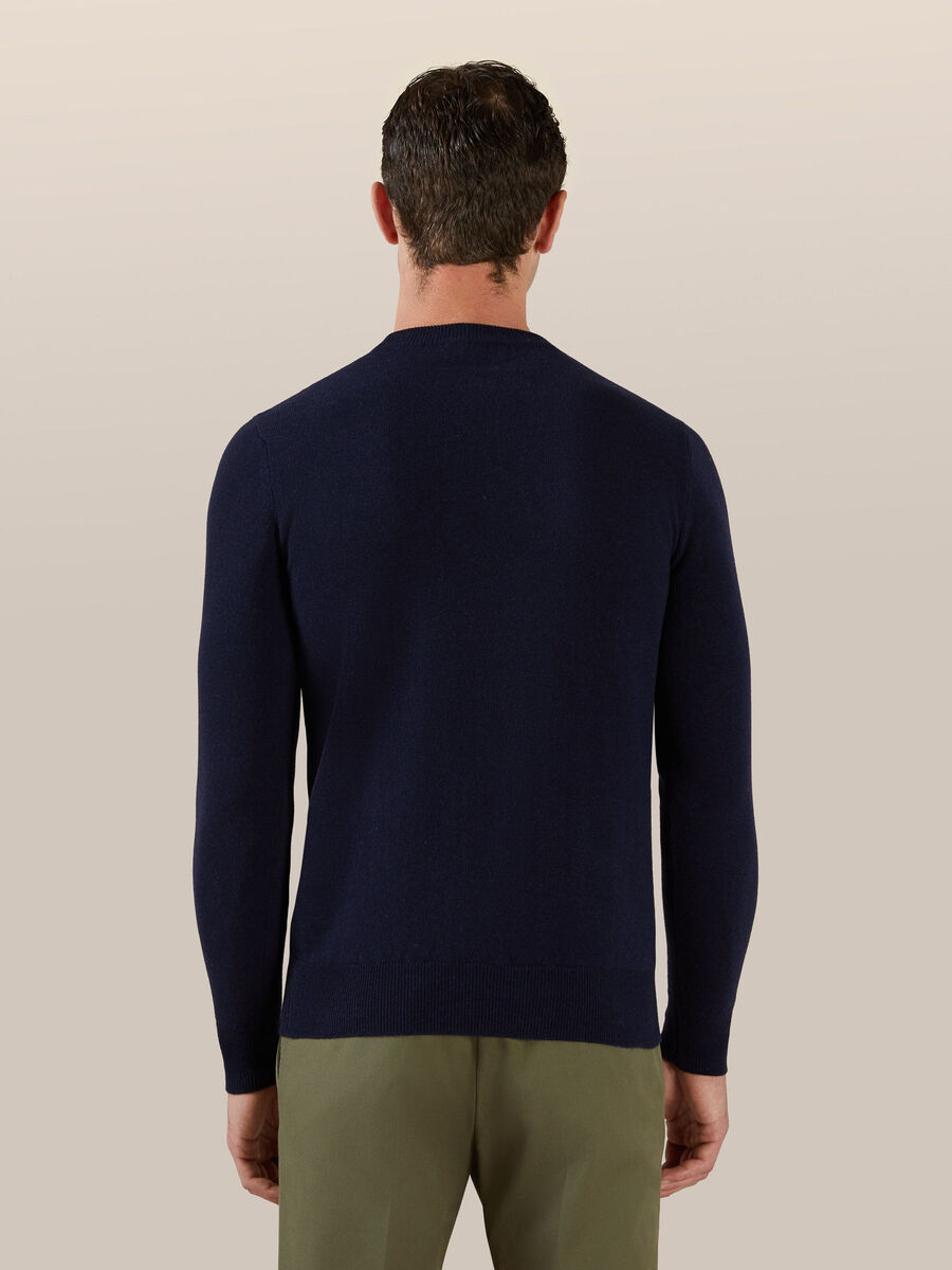 Regular fit cashmere and wool pullover