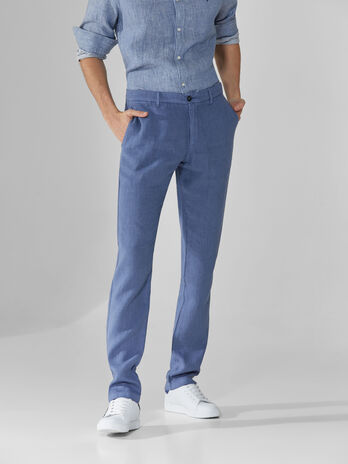 Pantaloni aviator fit in lino