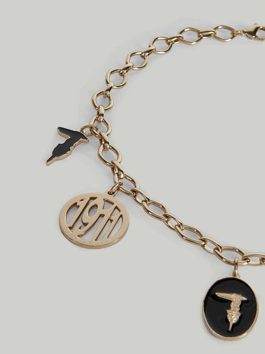 Collana a catena in metallo con charm
