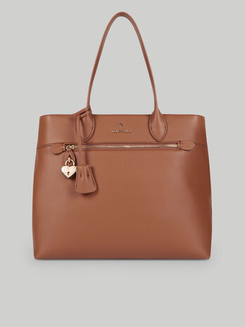 Faux deerskin shopper