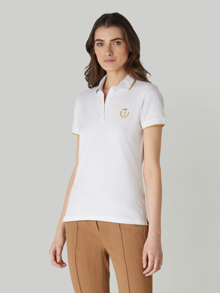 Slim-fit stretch pique polo-shirt