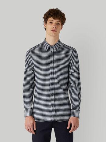 Camisa de franela de algodon a cuadritos