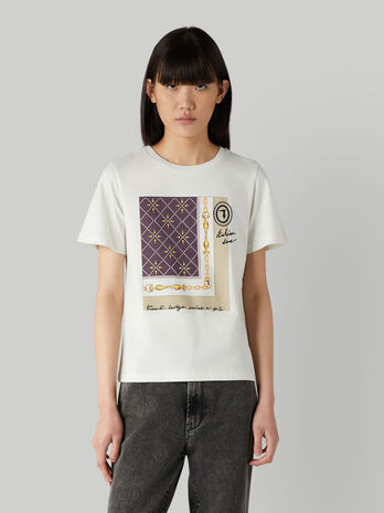 Regular-fit cotton T-shirt with print