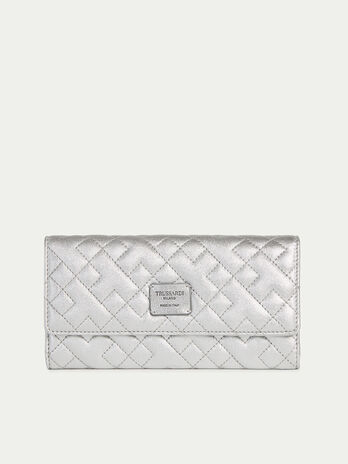 Laminated quilted nappa continental purse