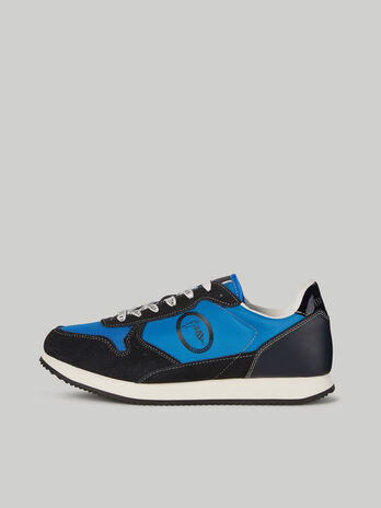 Technical fabric and suede Abax sneakers