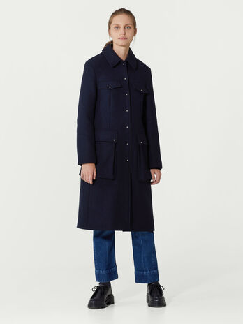 Single breasted woollen coat