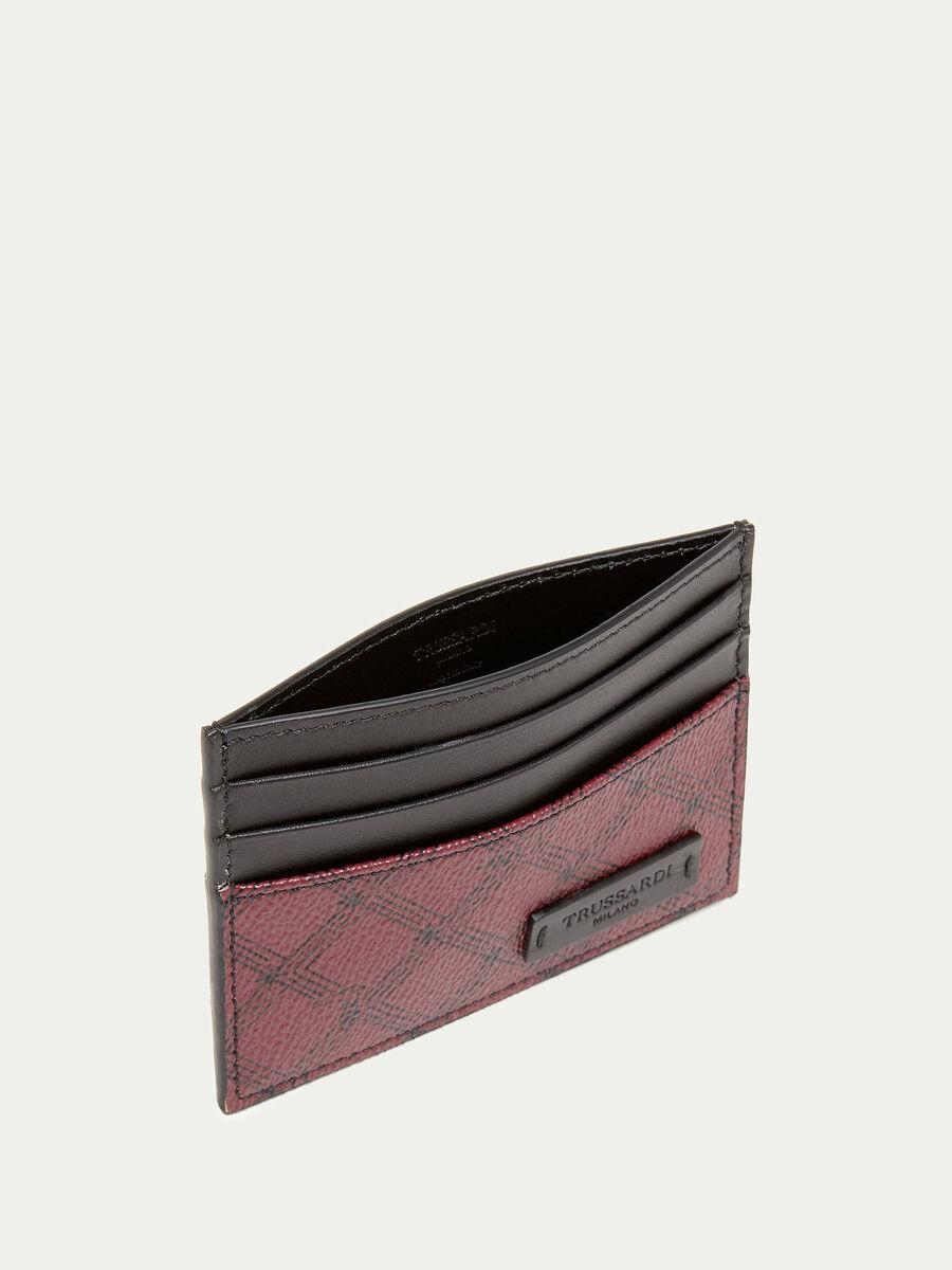 Crespo leather Monogram card holder
